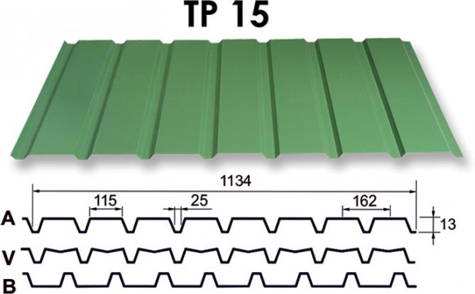 Metāla jumts TP 15 (RR krāsu k
