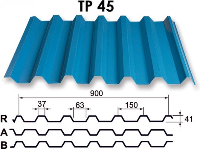 Metāla jumts TP 45 trapece (RR