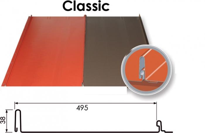 Metāla jumts Classic (RR krāsu