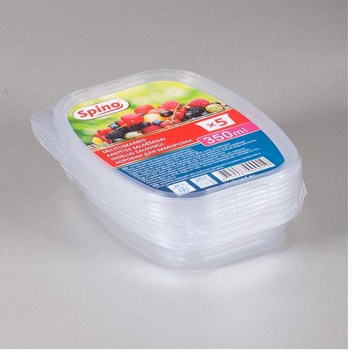 Kastītes saldēšanai 350ml, caurspīdīgi 4742287000019